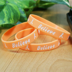 Multiple Sclerosis-Leukemia Orange Awareness Bracelet