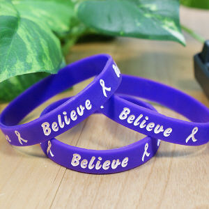 Purple Believe Awareness Bracelet