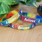 Rainbow Believe Awareness Bracelet 62013RB