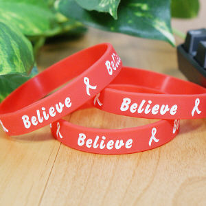 Red Believe Awareness Bracelet