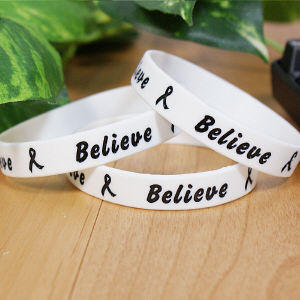 White Believe Awareness Bracelet
