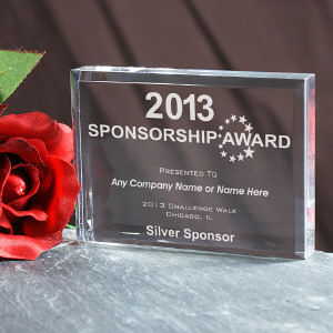 Sponsorship Award Keepsake Block