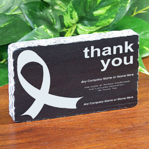 Thank You Ribbon Marble Keepsake