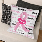 Hope and Love Breast Cancer Awareness Throw Pillow 83036633