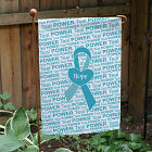 Teal Awareness Ribbon Garden Flag 83060202