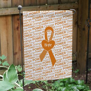 Orange Awareness Ribbon Garden Flag