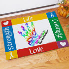 Autism Awareness Handprint Welcome Doormat 83140907