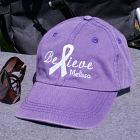 Embroidered Believe Awareness Purple Hat 841246PR