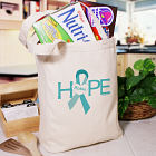 Hope Ovarian Cancer Awareness Tote Bag 841272