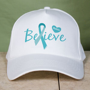 Ovarian Cancer Believe Awareness Hat