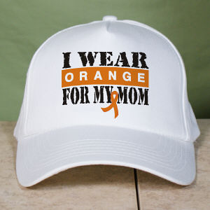 Personalized I Wear Orange Multiple Sclerosis Hat