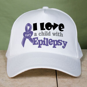 Personalized I Love A Child With Epilepsy Hat
