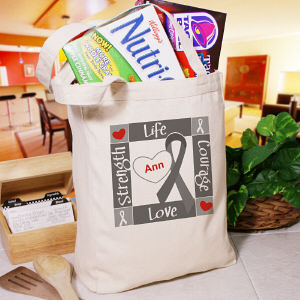 Personalized Diabetes Awareness Canvas Tote Bag