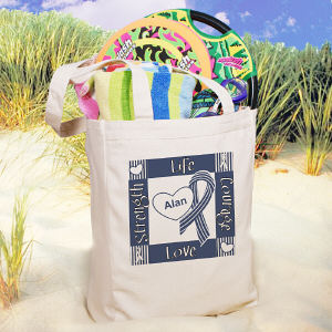 Personalized ALS Awareness Canvas Tote Bag