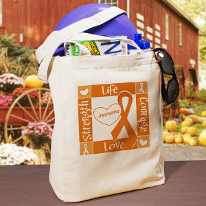 Personalized Multiple Sclerosis Awareness Canvas Tote Bag