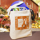 Personalized Multiple Sclerosis Awareness Canvas Tote Bag 841982
