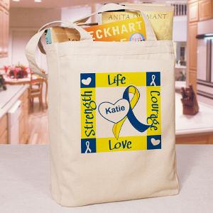 Personalized Down Syndrome Awareness Canvas Tote Bag