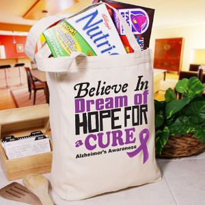 Believe In A Cure Alzheimer's Awareness Tote Bag