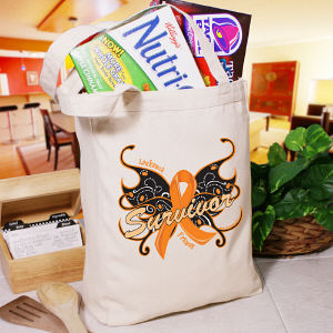 Leukemia Survivor Butterfly Tote Bag