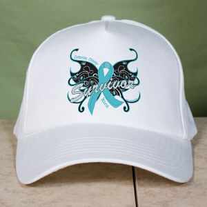 Ovarian Cancer Survivor Butterfly Hat