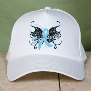 Prostate Cancer Survivor Butterfly Hat