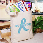 Prostate Cancer Survivor Ribbon Tote Bag