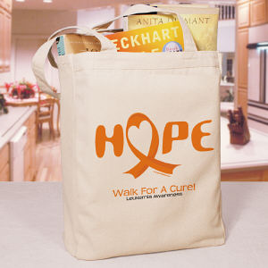 Walk For A Cure Leukemia Awareness Tote Bag