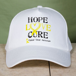 Hope Love Cure Bladder Cancer Hat