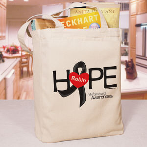 Melanoma Hope Awareness Tote Bag