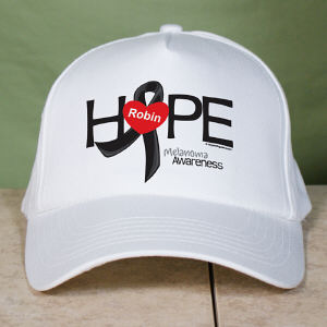 Melanoma Hope Awareness Hat