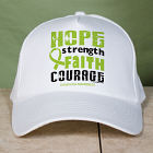 Lymphoma Hope Strength Faith Courage Awareness Hat