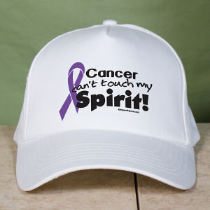 Purple Hope Ribbon Awareness Hat