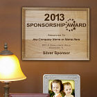 Sponsorship Award Wooden Wall Plaque