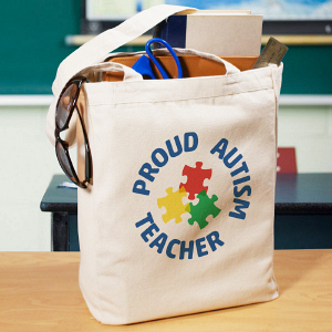 Autism Teacher Tote Bag