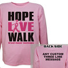 Personalized Breast Cancer Walk Long Sleeve Shirt 9074101X