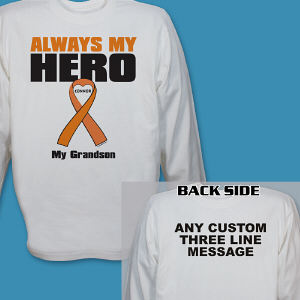 Personalized Multiple Sclerosis Hero Long Sleeve Shirt