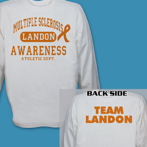 Personalized Multiple Sclerosis Awarness Athletic Dept. Long Sleeve Shirt