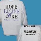 Personalized Hope Love Cure Epilepsy Awareness Long Sleeve Shirt 9074181X