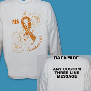 Personalized MS Awareness Long Sleeve Shirt