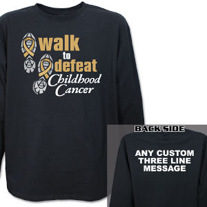 Personalized Walk to Defeat Childhood Cancer Long Sleeve Shirt
