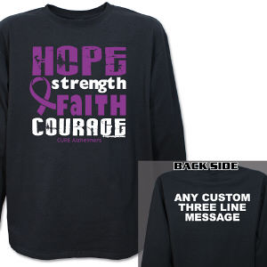 Cure Alzheimers Awareness Long Sleeve Shirt
