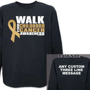 Personalized Walk for Childhood Cancer Awareness Long Sleeve Shirt