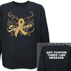Childhood Cancer Survivor Buttefly Long Sleeve Shirt