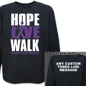 Hope Live Walk Pancreatic Cancer Awareness Long Sleeve Shirt