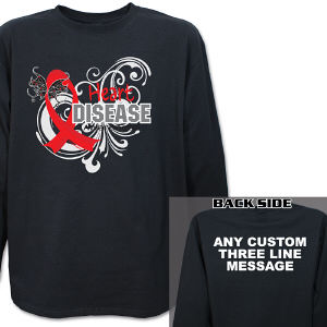 Heart Disease Awareness Long Sleeve Shirt