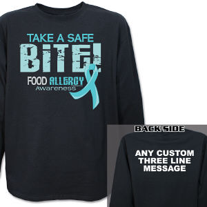 Take a Safe Bite Food Allergy Awareness Long Sleeve Shirt