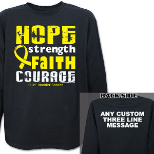 Cure Bladder Cancer Awareness Long Sleeve Shirt