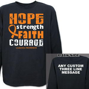 Leukemia Awareness Long Sleeve Shirt