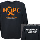 Walk For A Cure Leukemia Awareness Long Sleeve Shirt
