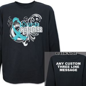 Ovarian Cancer Awareness Long Sleeve Shirt